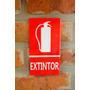 Cartel De Chapa Extintor / Matafuego 15 X 8 Cm
