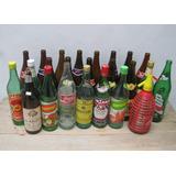 Lote Antiguas Botellas Vino Cerveza Coca Soda Decoracion