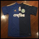 Camisa Palmeiras Azul Meio A Meio - 2016 - Numero 10