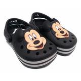 Sandália Babuche Infantil Meninos Mickey Mouse Preto