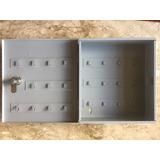Claviculário Porta Chaves Em Aço Para 23 Chaves C/ Fechadura
