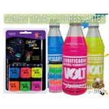Kit Combo De Tintas Fluorescente Ideal Para Sua Festa Neon