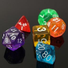 7 Dados Dungeons And Dragons Jogo De Rpg 07 Pçs/kit R.p.g.