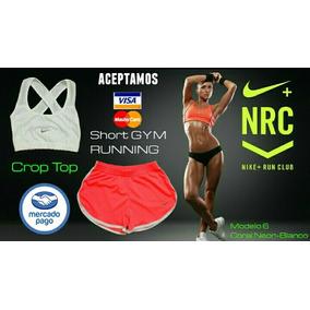 Conjuntos Deportivos Nike Para Dama Top Retenedor Short Gym