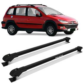 Rack Teto Travessa Peugeot 206 207 Sw 05/13 Slim Preto 45kg