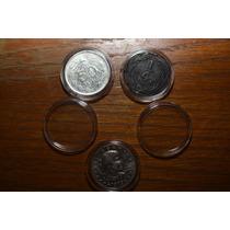 Lote De 10 Capsulas Para Monedas 27 Mm
