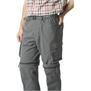 Pantalón Hombre Outdoor Talla Grande Desmontable  Uv 50