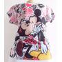 Kit Mãe E Filha T-shirt Camiseta Blusa Mickey Minnie Disney