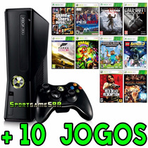 Xbox 360 Slim 4gb + Gta 5 + Pes 2017 + Call Of Duty