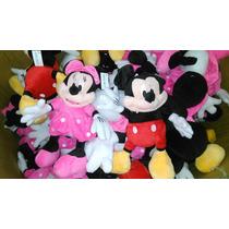 Peluche Mickey Y Minnie Disney Importados Varios Tamaños