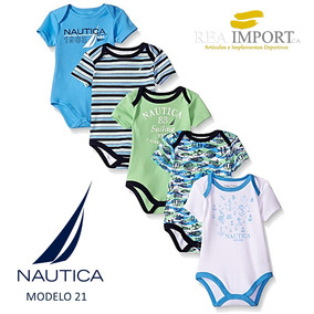 Set 5 Bodys Nautica Bebe Niño Varon De 6 A 9 Meses Original