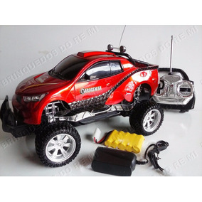 Carrinho Jeep Rally Controle Bateria Recarregável C/ Farol !