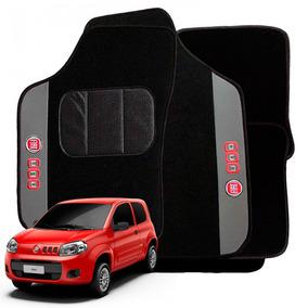 Jogo Tapete Bordado 5 Peças Fiat Uno Vivace 2011 A 2014 Auto