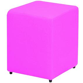 Puff Puf Pufe Puffs Pufs Pufes Decoração Quadrado Rosa Pink
