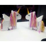 Mini Piñata Cotillón Centro De Mesa Unicornio Cumpleaños