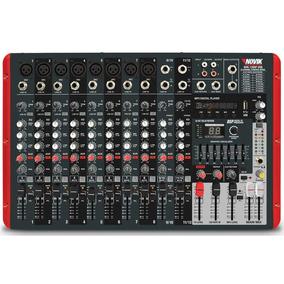 Mixer Mesa De Som Amplificada Novik Nvk-1200p Usb 300w + 300