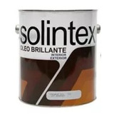 Pintura Solintex Esmalte Oleo Brillante Color Negro Galon