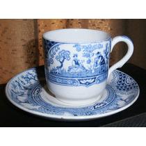 Antigua Bella Taza Y Plato Cafe Porcelana Inglesa Adderleys