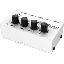 Mixer De Linha De 4 Canais Mono - Behringer Micromix Mx400