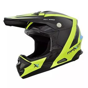 Capacete Motocross Mattos Racing Mx Pro Preto Verde Novo