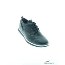 Zapatos De Moda Baratos Para Niño Piel Grabado Negro Total