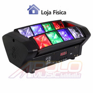 Mini Moving Spider 8 Leds De 3w Osram Rgbw Dmx Somos Loja