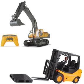 Empilhadeira - Escavadeira Controle Remoto De Brinquedo