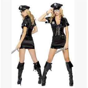 Sexy Disfraz Policia Halloween Incluye Todo Y Envio S/m