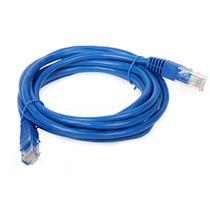 Cabo De Rede Cat5e Patch Cord 10m Metros Azul Internet Net