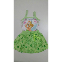 Vestido Infantil Sininho Thinker Bell - Temático Fantasia