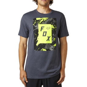 Remeras Moto Fox Hombre Legacy Negra Slasher Box Grey
