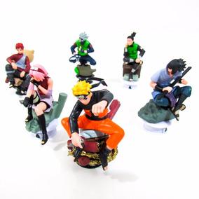 Kit Action Figure Naruto Com 6 Personagens | 8,5cm