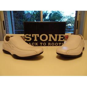 Zapatos Mocasìn Blancos 100% De Cuero. Stone