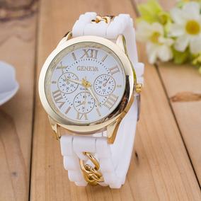 Relógios Femininos Pulseira De Silicone Bonitos E Elegantes