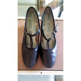 Sapato Feminino Para Dança De Salão Importado Em Couro
