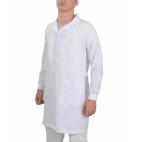 Jaleco Oxford Masculino Médico Com Punho Bolso Personalizado