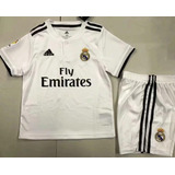 184d6cd8f93e3 Camisetas + Short Niños Real Madrid España 2018 Modric Kroos