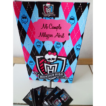 Bolsitas Golosineras Personalizadas Monster High Pack Por 10
