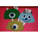 Gorros Monster Inc. Realizados A Crochet