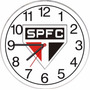 Relógio De Parede Do São Paulo Decorativo Esportivo Futebol