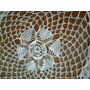 Antigua Carpeta Redonda Crochet Leer