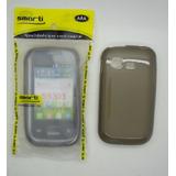 Capa De Silicone Smarti Galaxy Pocket Duos S5302 S5303 Preto