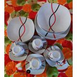 Set De Vajillas Porcelana 12 Platos / 4 Tazas ¡presiona!