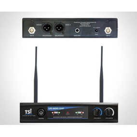 Microfone Sem Fio Duplo Tsi Ud 800 Uhf - Mega Shopping