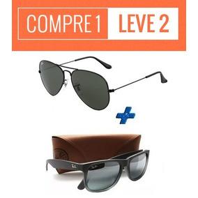b7acbc9d5a49d Oculos Ray Ban Aviador Compre 1 Leve 2 - Óculos De Sol no Mercado ...