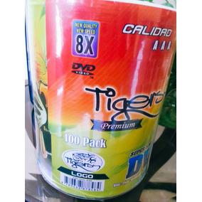 Torre Cds Dvd-r Virgen 8 X 120 Min / 4.7 Gb Tigers Premium