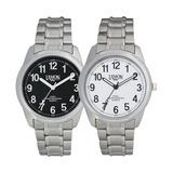 Reloj Lemon L1162 Clasico 3 Agujas Acero Blanco O Negro Gtia