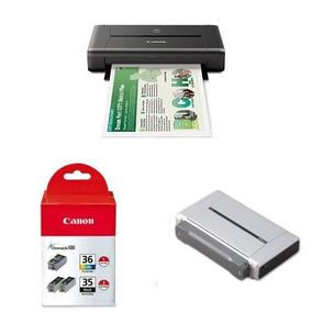Impresora Canon Pixma Ip110 Con Tinta Y La Batería Bundle