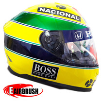 Capacete Moto Personalizado Do Senna 1991