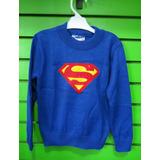 Chompas De Hilo - Super Man - 6 Y 10